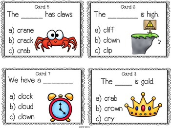 Blends for Reading Task Cards