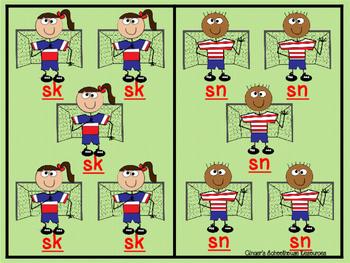 Blends for Soccer, Part 2: Decoding Game -  sk, sn, st, & sw
