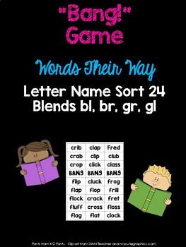 Blends - gl, bl, gr, br - Game (WTW Letter Name Sort 24)