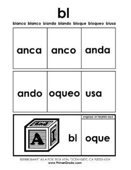 Blends in Spanish - Grupos Consonanticos