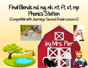 Blends nd, ng, nk, nt, ft, xt, mp Station Compatible w/ Journeys 2nd Gr Lesson 6