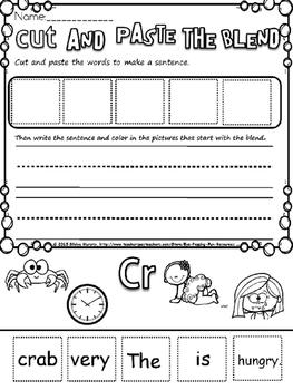 Blends cut and paste sentences