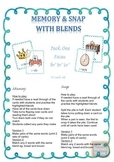 Blends 'tr' 'br' 'cr' Memory or Snap Game Cards Literacy