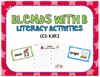 Blends with B Literacy Activities