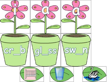 Blends with Missing Short Vowel Sound Literacy Station Word Work Daily 5