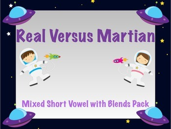 Blends with Short Vowels - Real vs Nonsense words