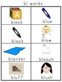 Blends with l Picture Word Banks