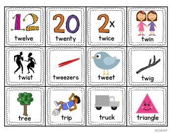 Blends with t Literacy Centers