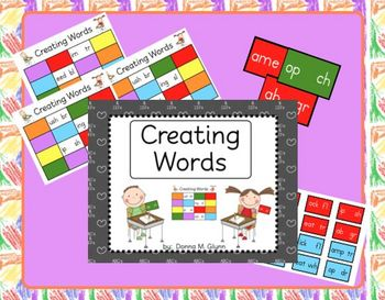 Blends/Digraphs Game Board