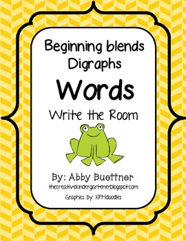 Blends/Digraphs Write the Room