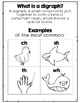 Common Core Blends,Digraphs, and Vowels for Parents!