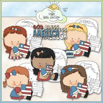 Bless America Clip Art - July 4 Clip Art - Patriotic Clip Art -CU Clip Art & B&W