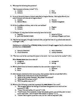 Bless Me, Ultima 33-Question Multiple Choice Test