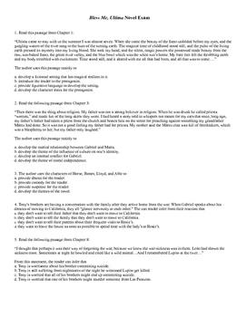 Bless Me, Ultima Common Core Novel Exam