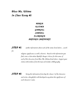 How To Write A Good Essay For High School Bless Me Ultima Essay Prompts  English Essay Ideas also Writing Essay Papers Bless Me Ultima Essay Prompts  By Scribs Teach  Tpt Yellow Wallpaper Essays