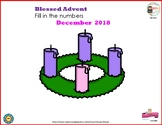 Blessed Advent  Calendar Fill In the numbers 2018