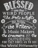 Blessed are the weird people poster