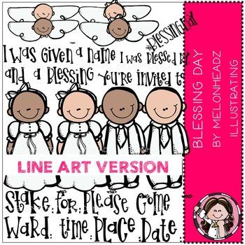 Melonheadz: Blessing Day clip art - LINE ART