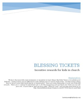 Blessing tickets