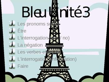 Bleu Unit 3 notes, exercises and quizzes