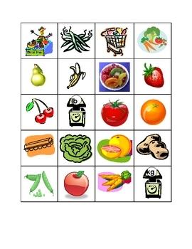 Fruits et Légumes Bleu Unit 8 Lecon 25 vocabulary activities in French