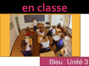 Bleu unit 3 vocabulary power point