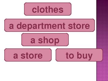 Bleu Unit 6 Vocabulary PowerPoint