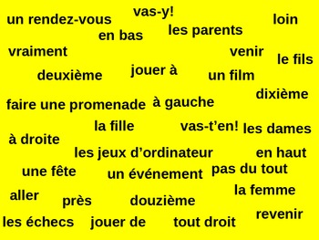 Bleu units 5-8 Tapette à mouches Flyswatter vocabulary review