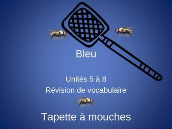 Bleu Units 5 - 8 Tapette à mouches Flyswatter Vocabulary Review