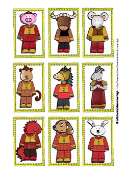 Bliain Nua na Síneach (Chinese New Year) Matching Cards