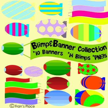 Clip Art and Graphics: banners and blimps