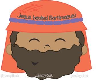 Blind Bartimaeus Craft- Jesus heals a blind man