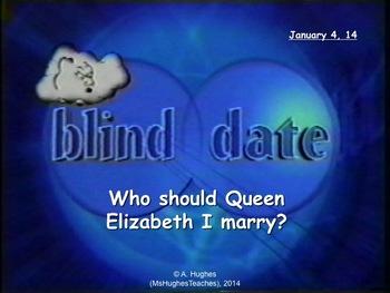 Blind Date - Who should Queen Elizabeth I marry? Powerpoin