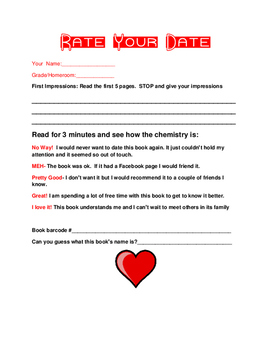 Blind Date with a Book Form