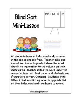 Blind Sort Whole Group Mini Lesson