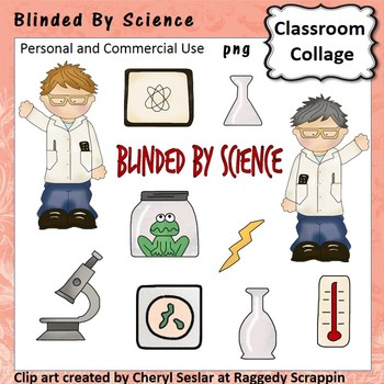 Blinded by Science - Color - pers/com  scientist beaker microscope frog