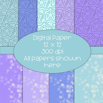Bling - Gem - Bubble Digital Papers  - 300 dpi 12x12