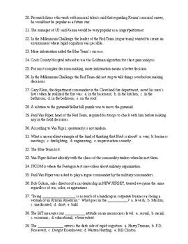 Blink Reading Check Test/Quiz