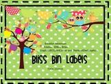 Bliss Editable Bin Labels