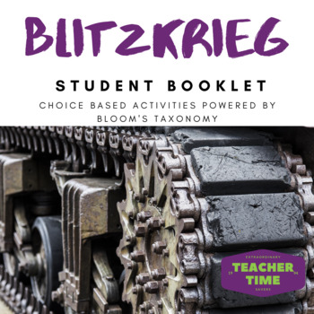 Blitzkrieg Student choice activity using Bloom's Taxonomy