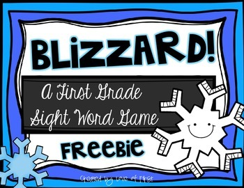 Blizzard-A First Grade Sight Word Game