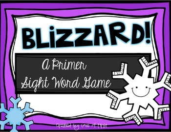 Blizzard-A Primer Sight Word Game