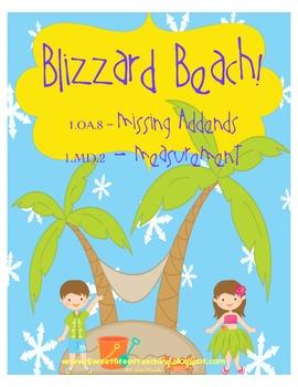 Blizzard Beach Math:missing addend & measurement
