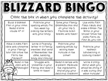 Blizzard Bingo - FREEBIE!