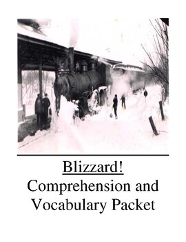 Blizzard!  By Jim Murphy Guided Reading Unit Level Y