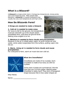 Blizzard Fact and Opinion