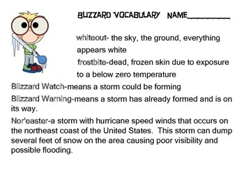 Blizzard Facts-Science
