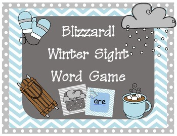 Blizzard! Winter Sight Word Game