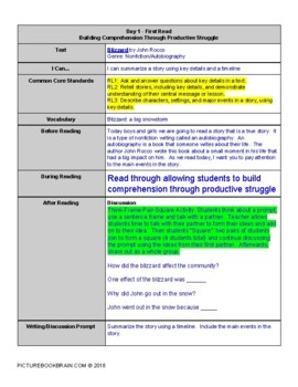 Blizzard by John Rocco 4-5 Day Lesson Plan