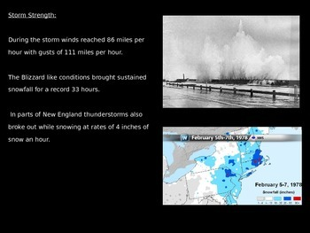 Blizzard of 1978 - Power Point Facts Information Pictures